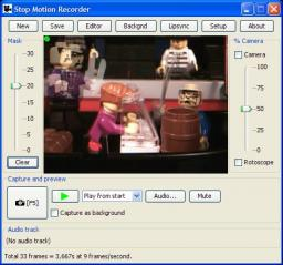 Freeware! Capture frames using a standard webcam.